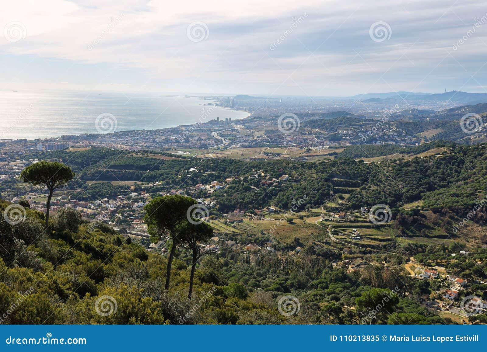 Barcelona skyline and coast