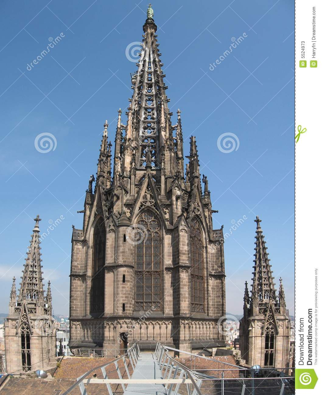 Barcelona Spain Stock Image Image Of Roof Blue Tall