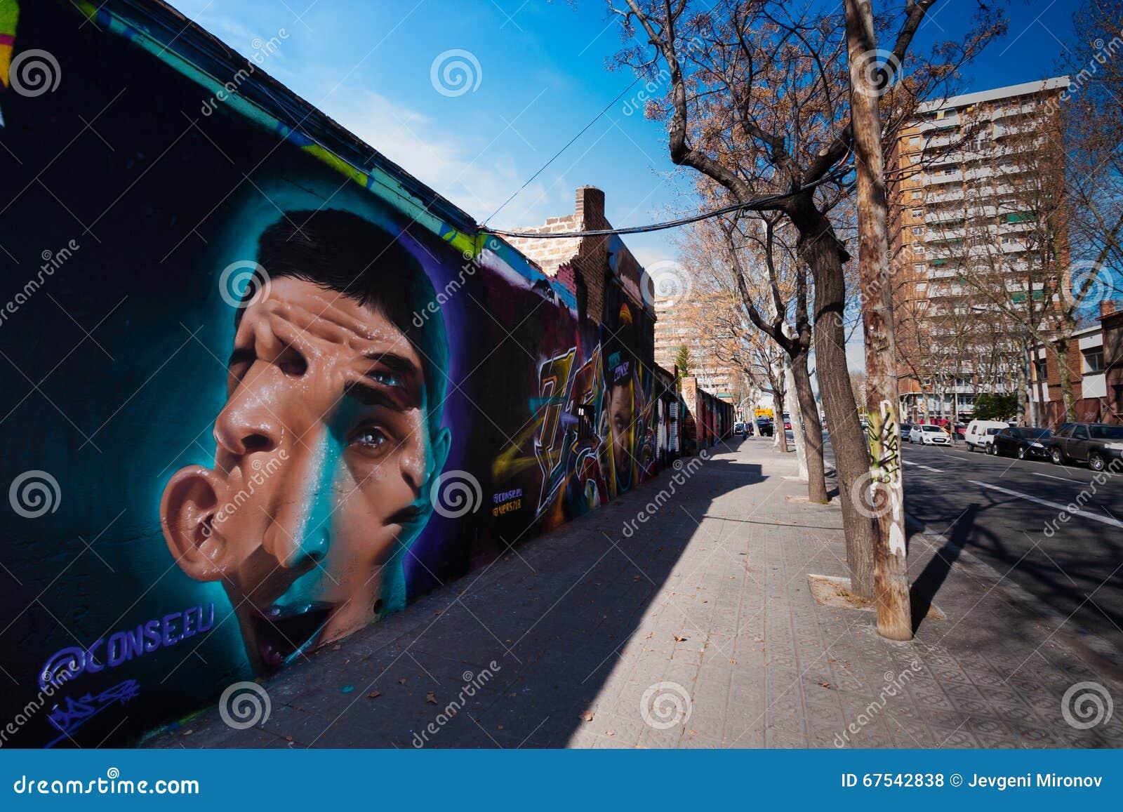 Graffiti wall barcelona - Editorial Stock Photo Download Barcelona