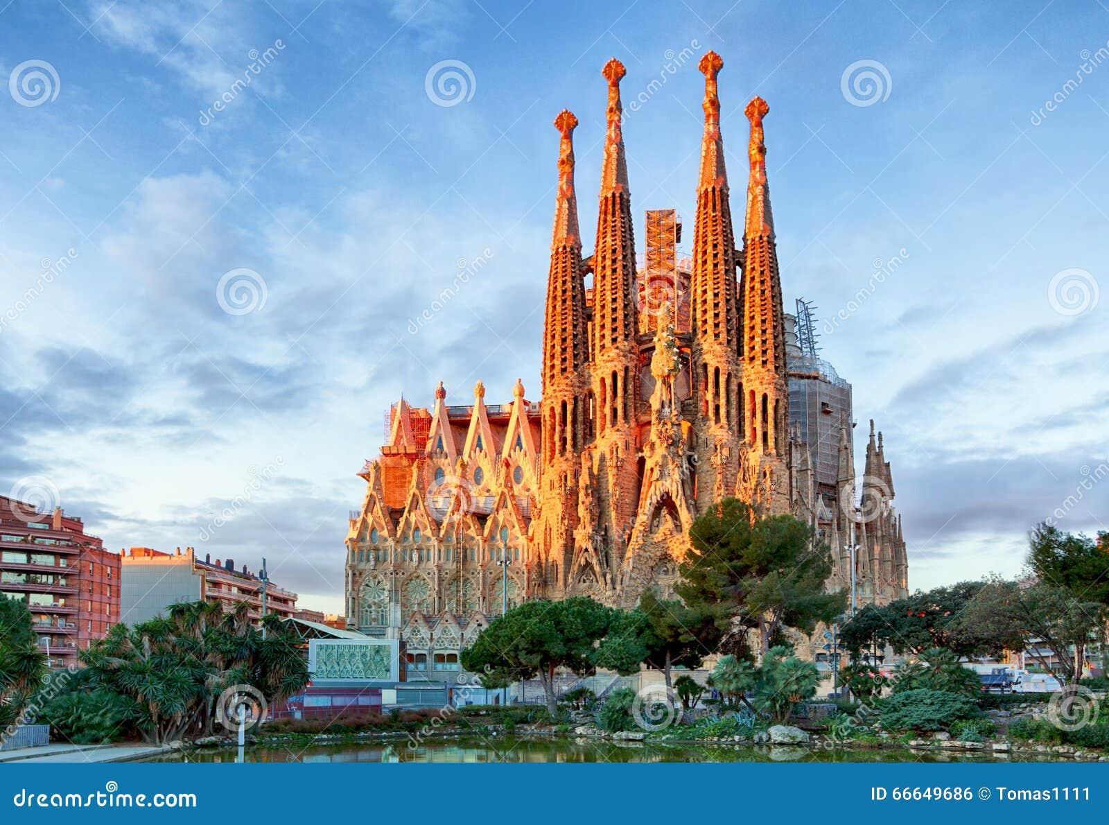 BARCELONA, SPAIN - FEBRUARY 10: La Sagrada Familia