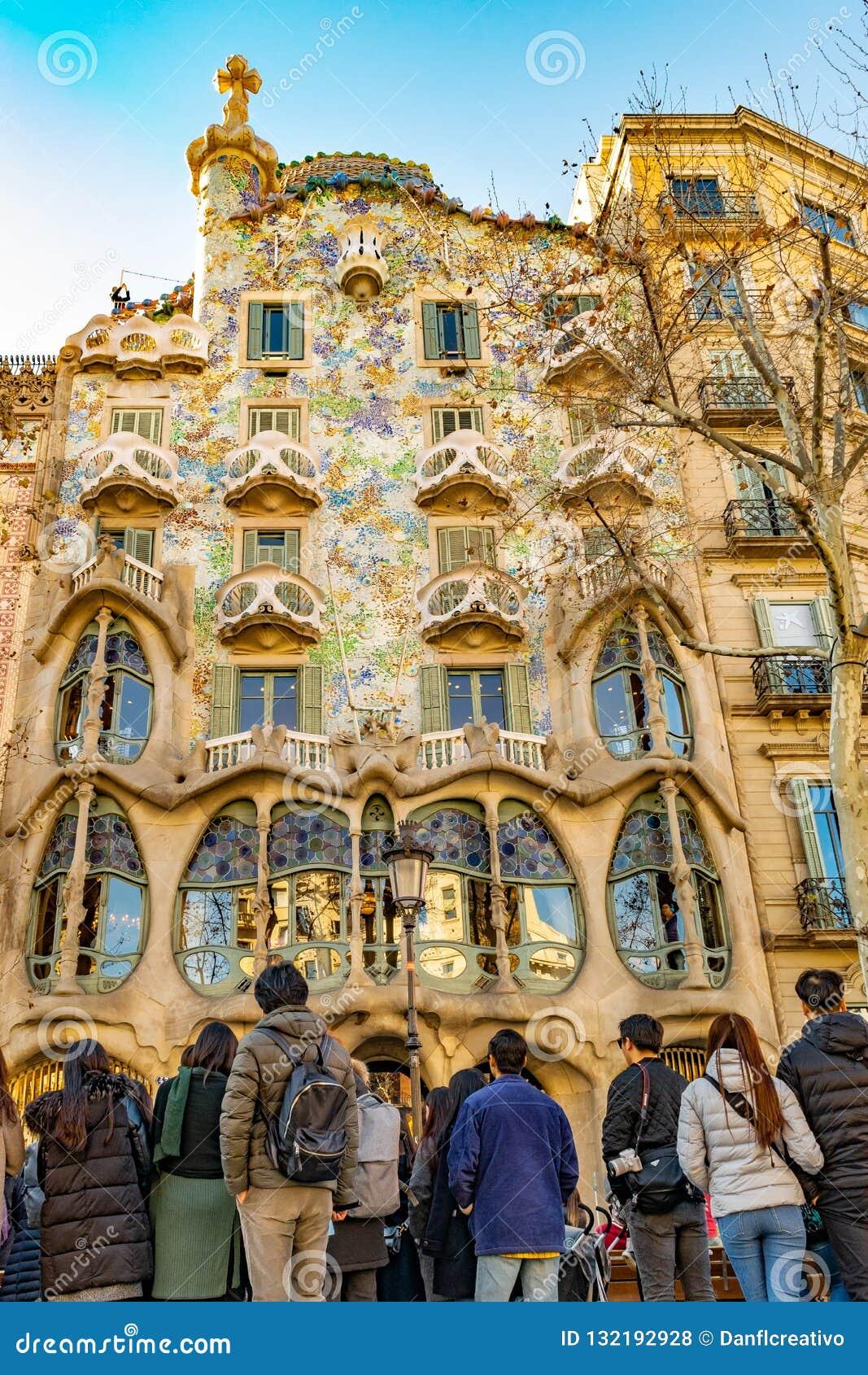 Gaudi Batllo House Building, Barcelona, Spain