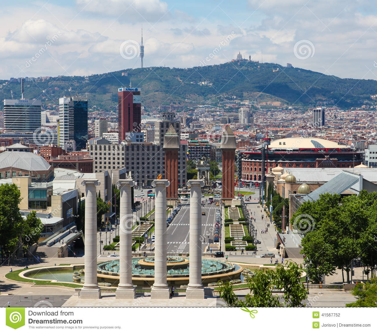 Barcelona Editorial Photography. Image Of Statue