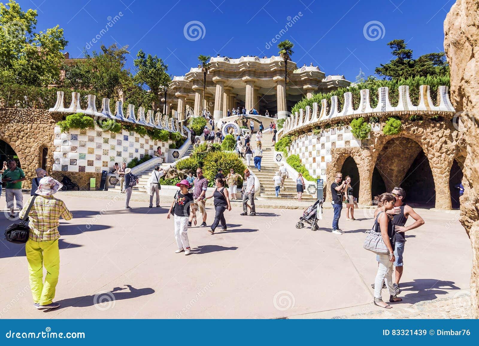BARCELONA, SPAIN - SEPTEMBER 17, 2015: Entrance at the Parc Gue