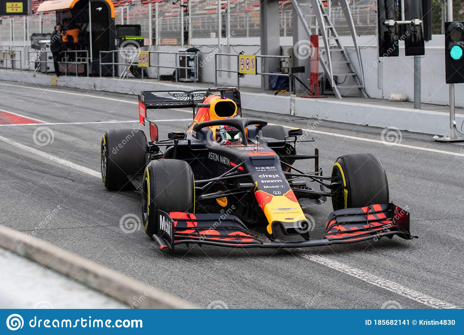 Pierre Gasly F1 Racing Driver In Red Bull Car Editorial Photo Image Of Bull Portrait 185682141