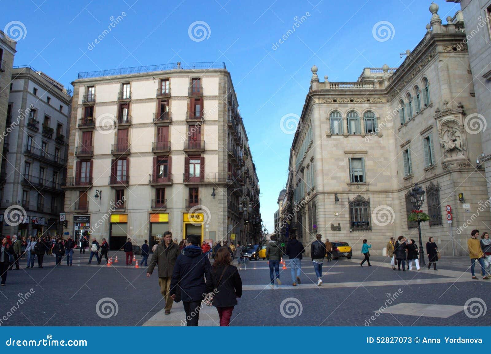 Barcelona Square Editorial Stock Photo  Image 52827073