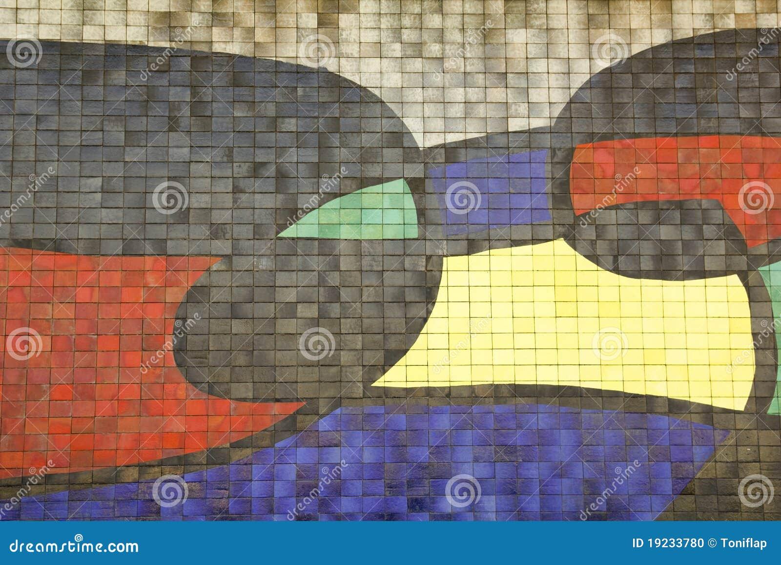Barcelona szczegółu Joan miro mozaika