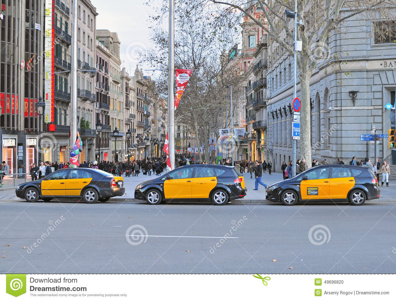 Barcelona taxi spain editorial image image 49696820 - Cab in barcelona ...