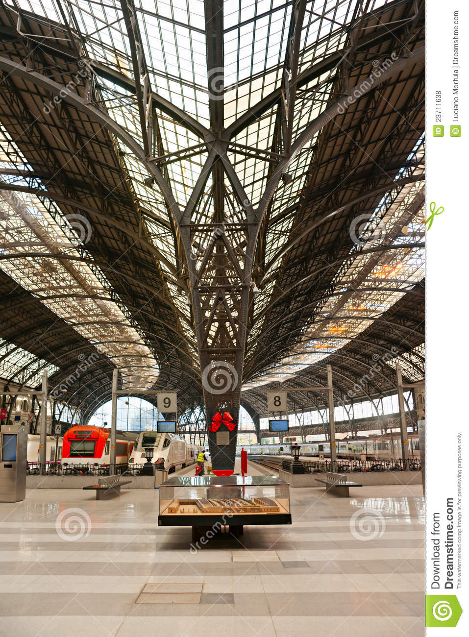 Barcelona Train Station, Spain. Royalty Free Stock Photos ...