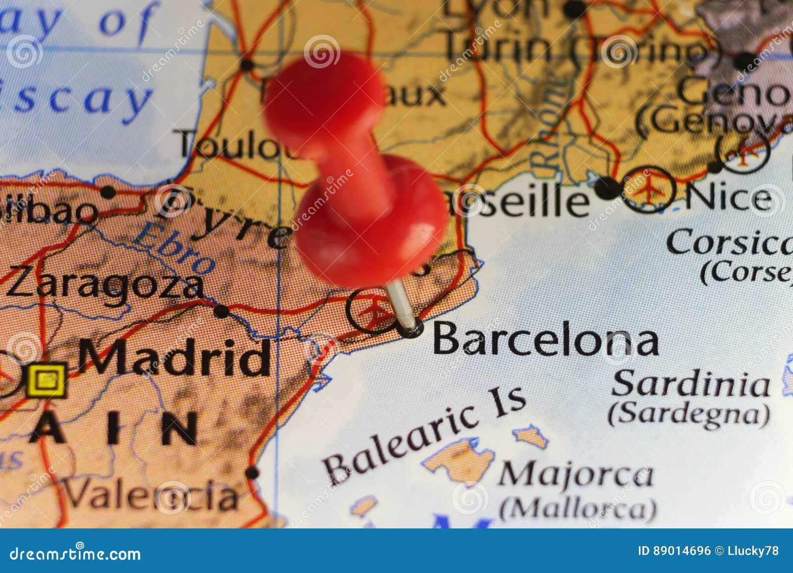 carte espagne barcelone images et photos