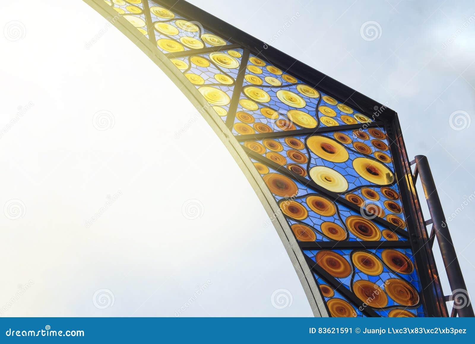 Barcelone, Espagne - 26 septembre 2016 : Détail de la conception en verre de