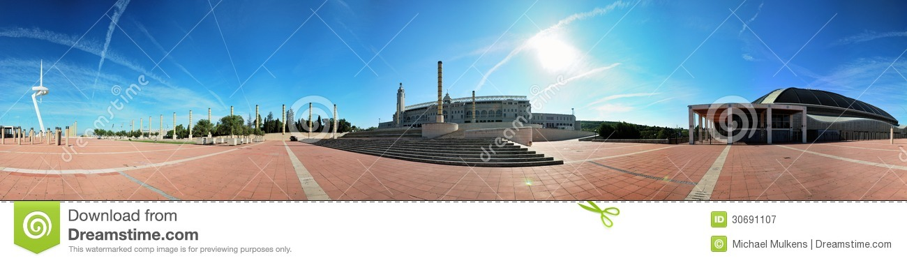 Barcelone, ville olympique, panorama 360°