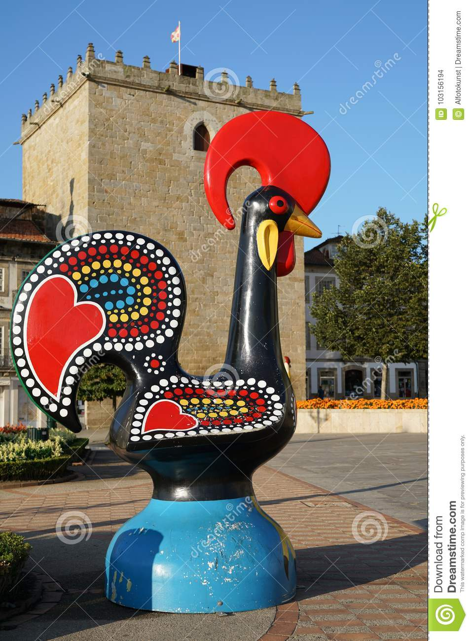 Statue Of The Of Barcelos Portugal Editorial Stock Image Image Of