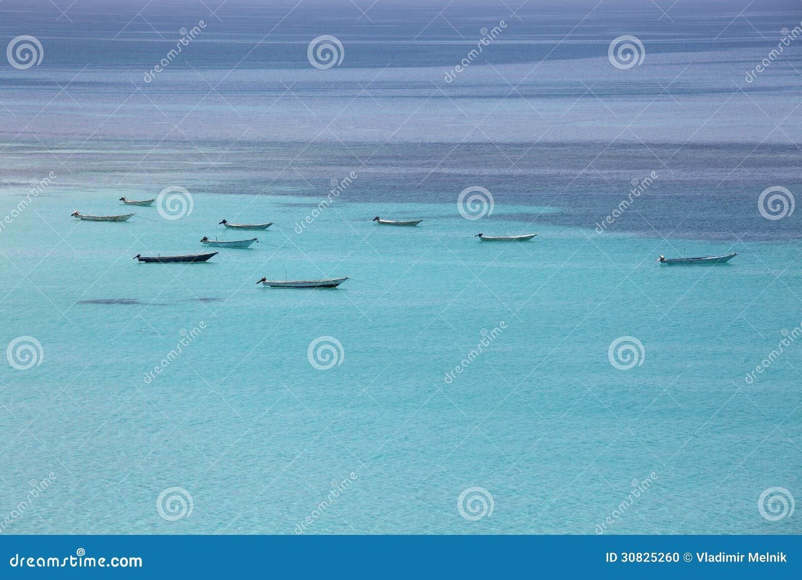 Barche al mare del turchese
