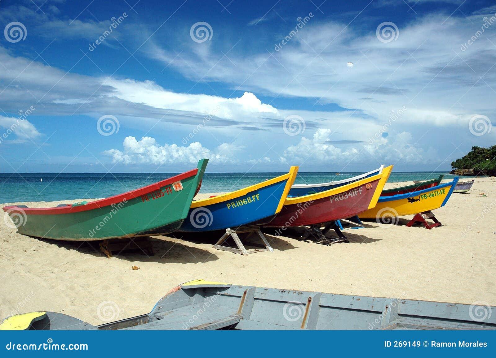 Barche caraibiche tropicali