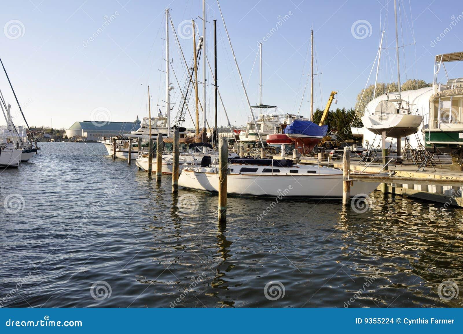 Barche nella baia di Chesapeake