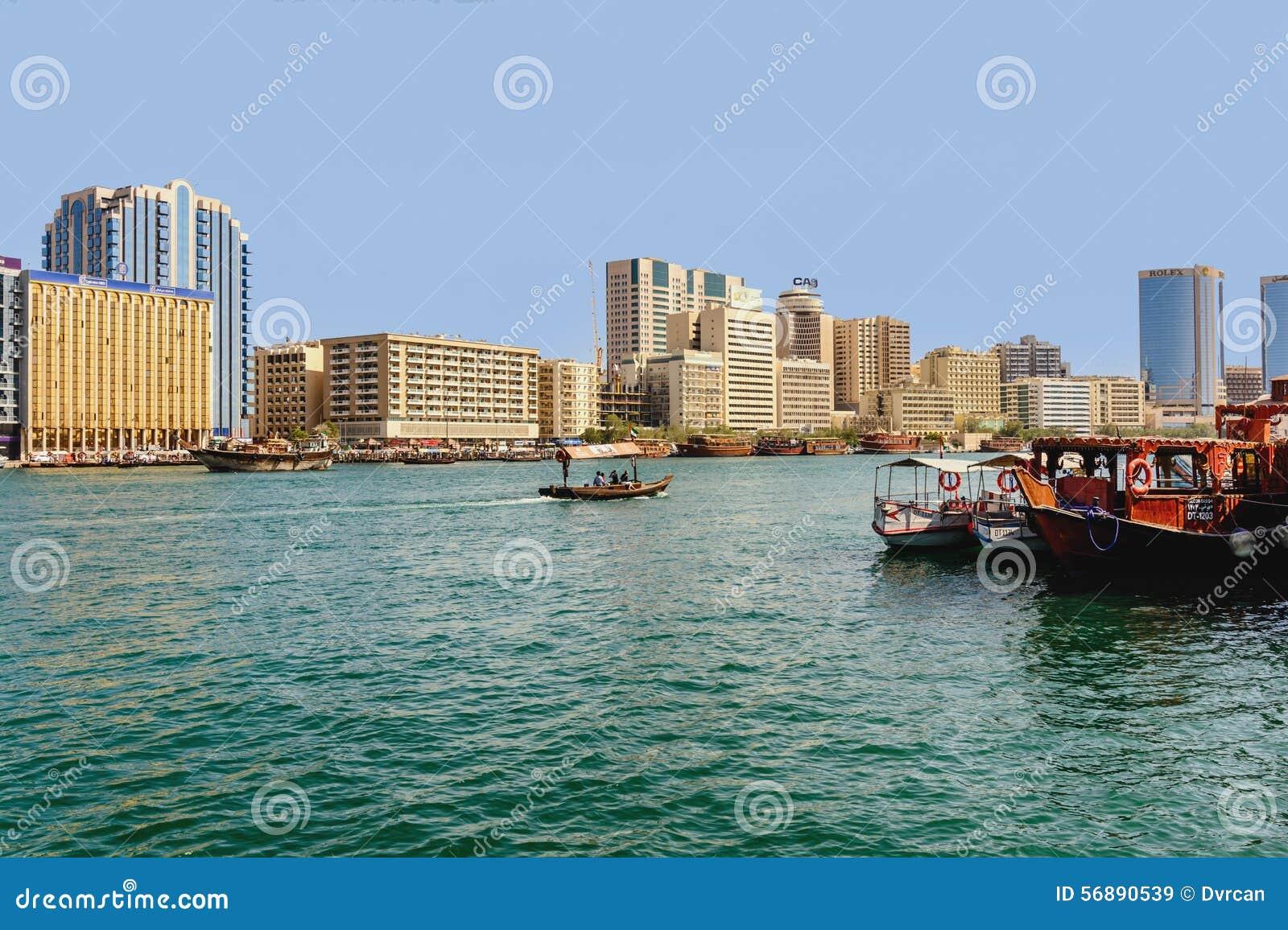 Barche in porticciolo, Dubai