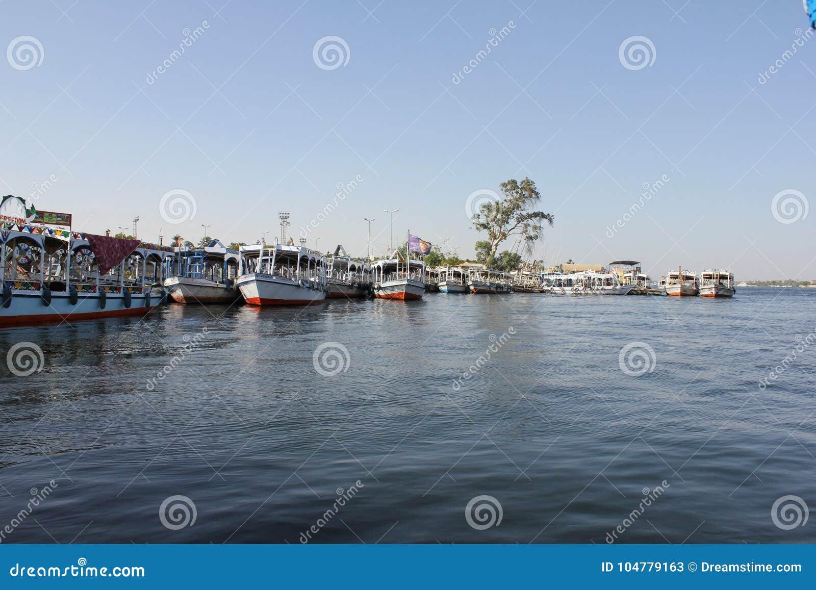 Barche su Nile River