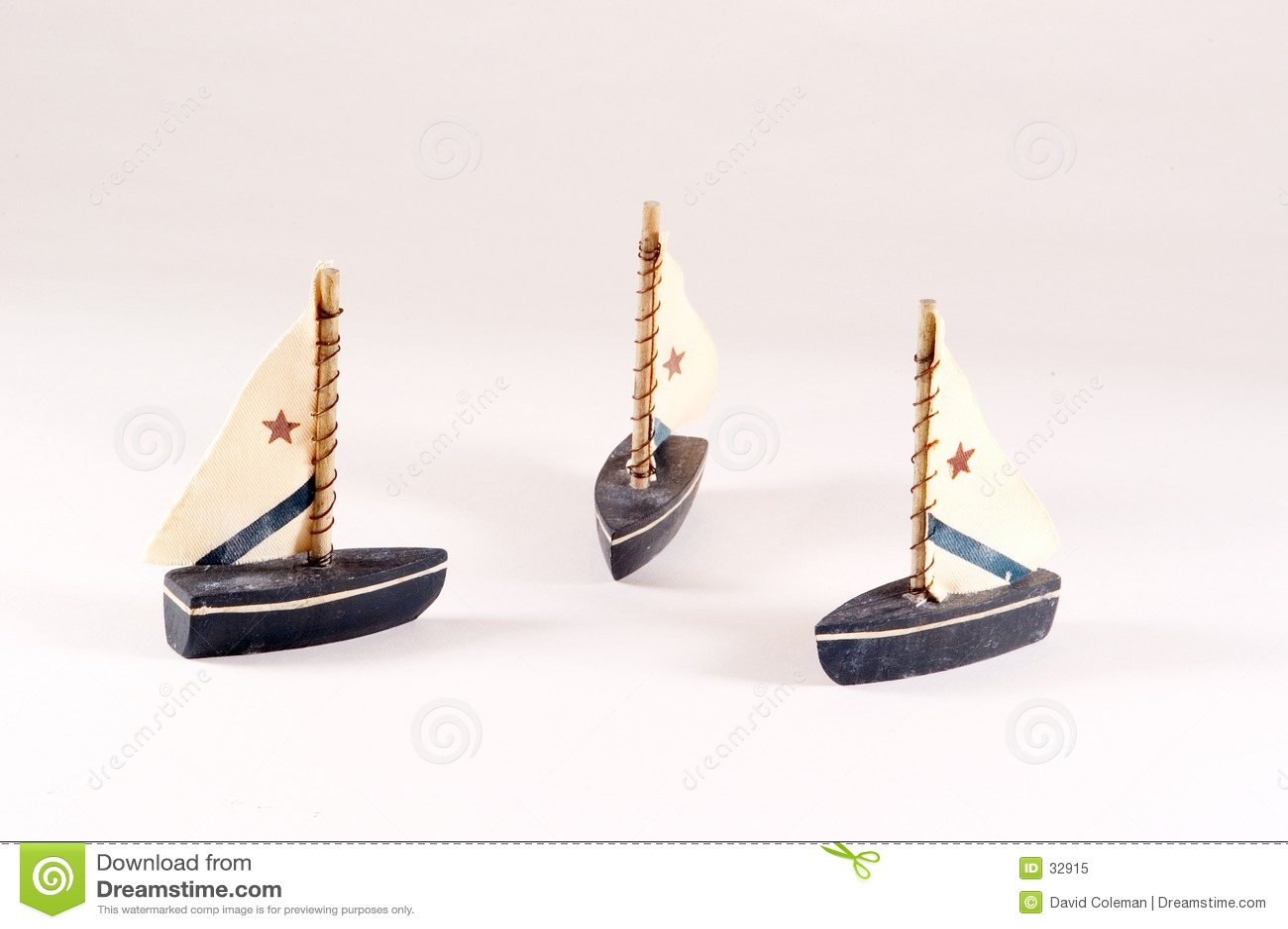 Barche a vela decorative