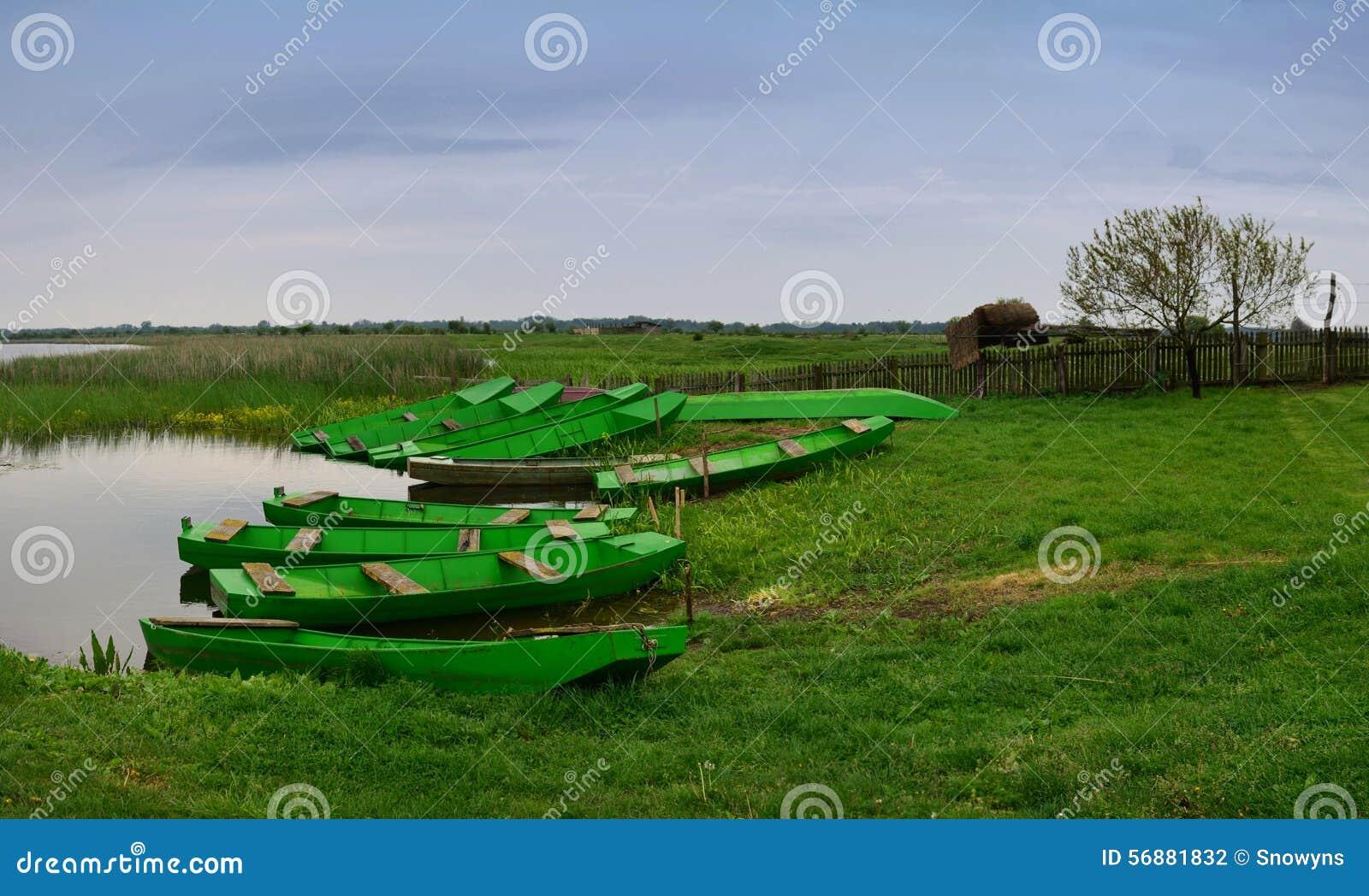 Barche verdi al parco nazionale Zasavica