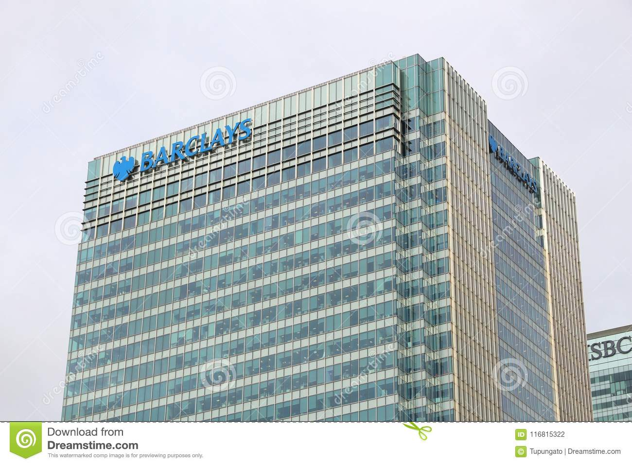 Barclays Bank hq editorial photography  Image of exterior - 116815322