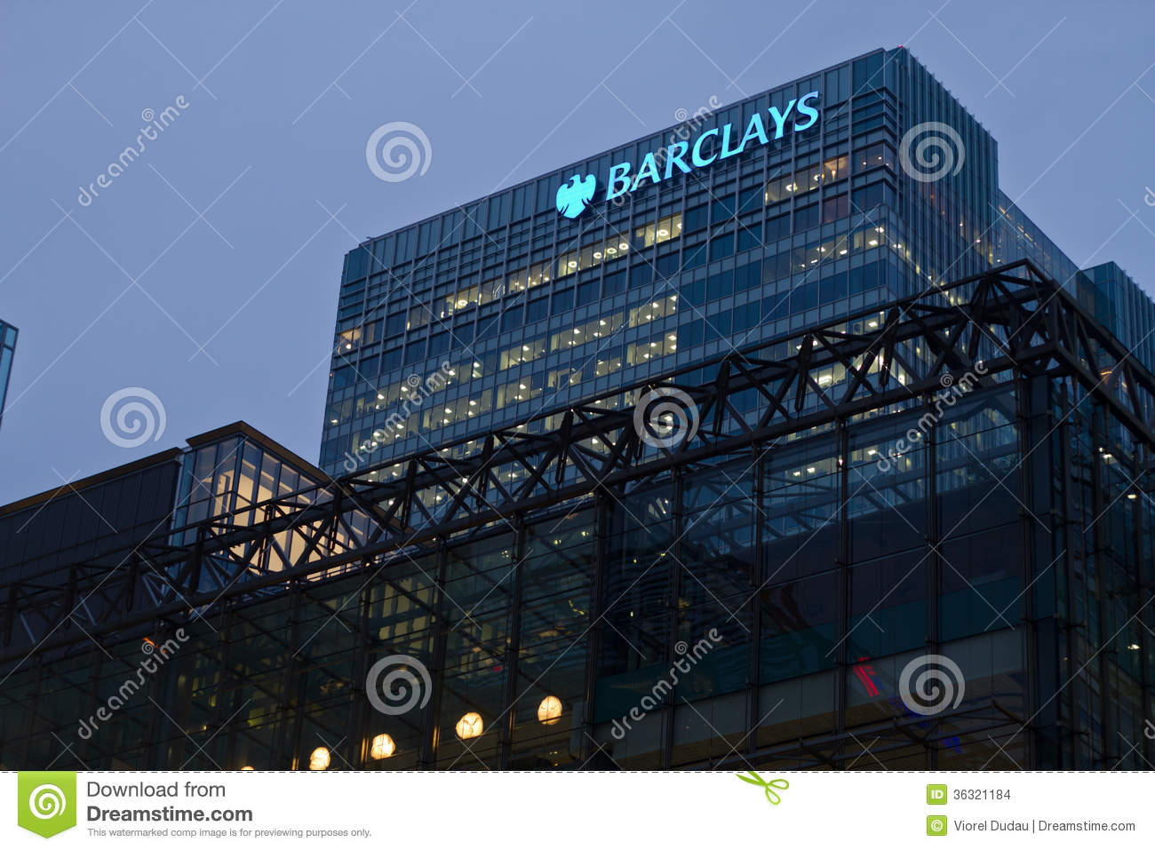 barclays editorial stock image