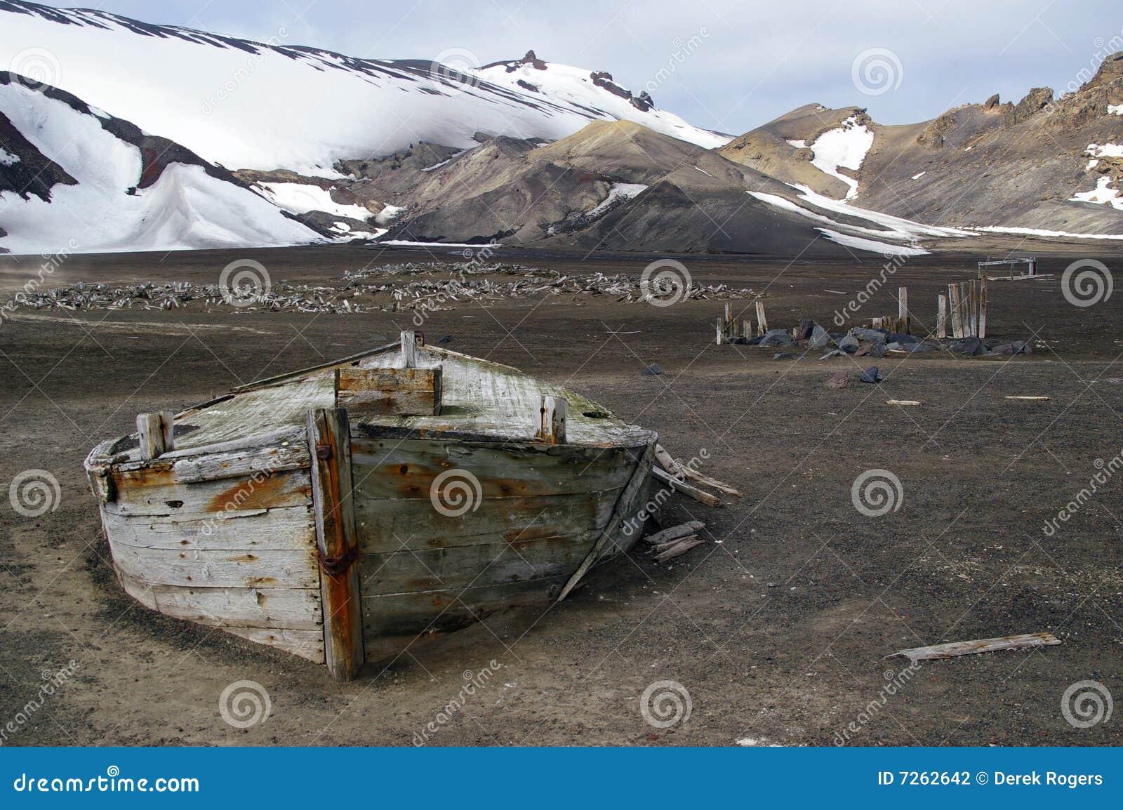 Barco Continente antárctico da baleação