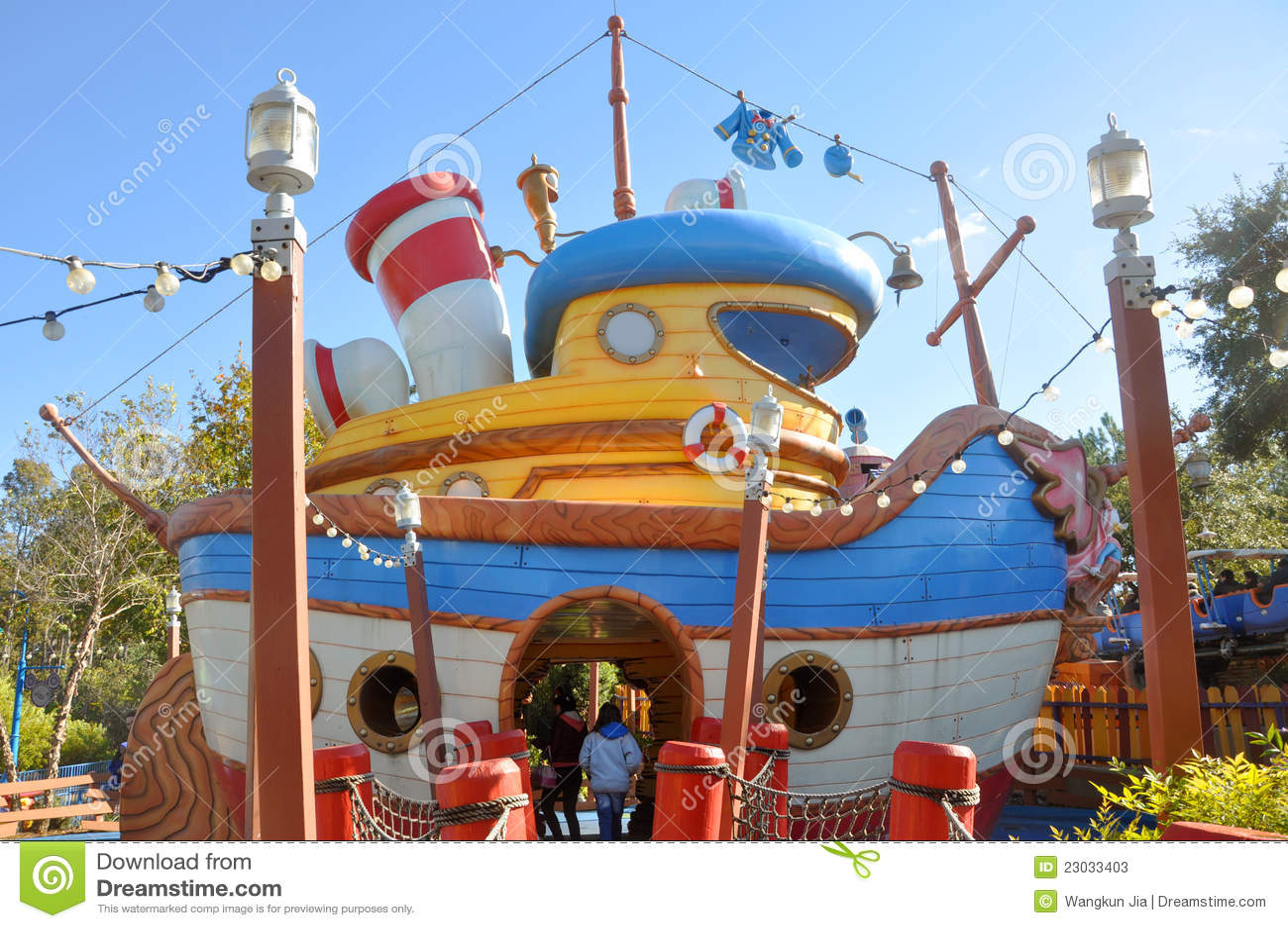 Barco de Donald en el mundo Orlando de Disney