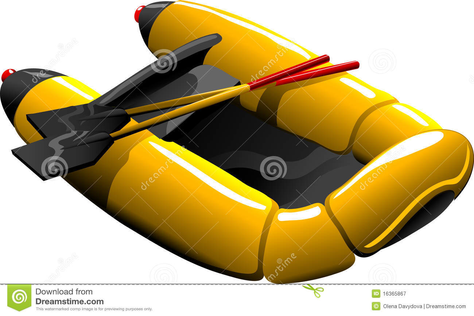 Barco de goma de la historieta