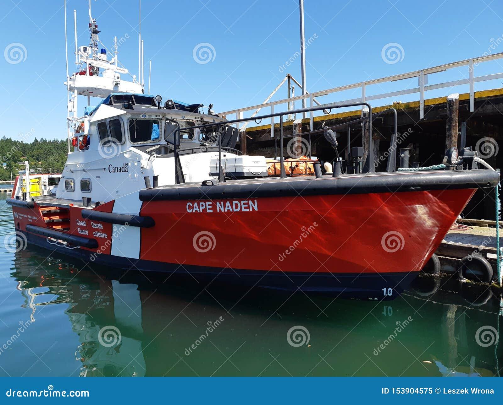 Barco de guardas costeiras canadense