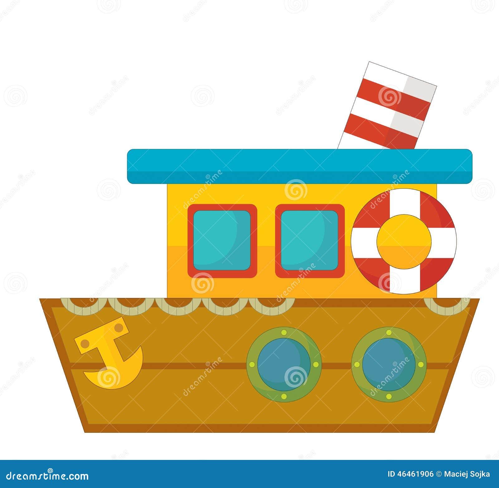 Barco De La Historieta Caricatura Stock De Ilustración