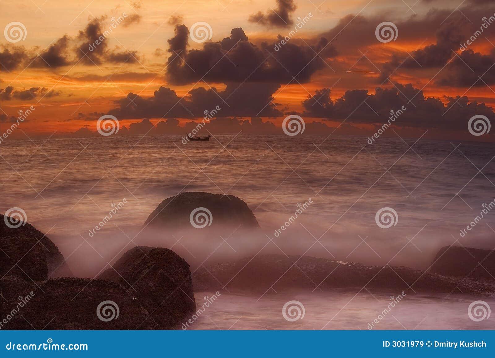 Barco de la puesta del sol