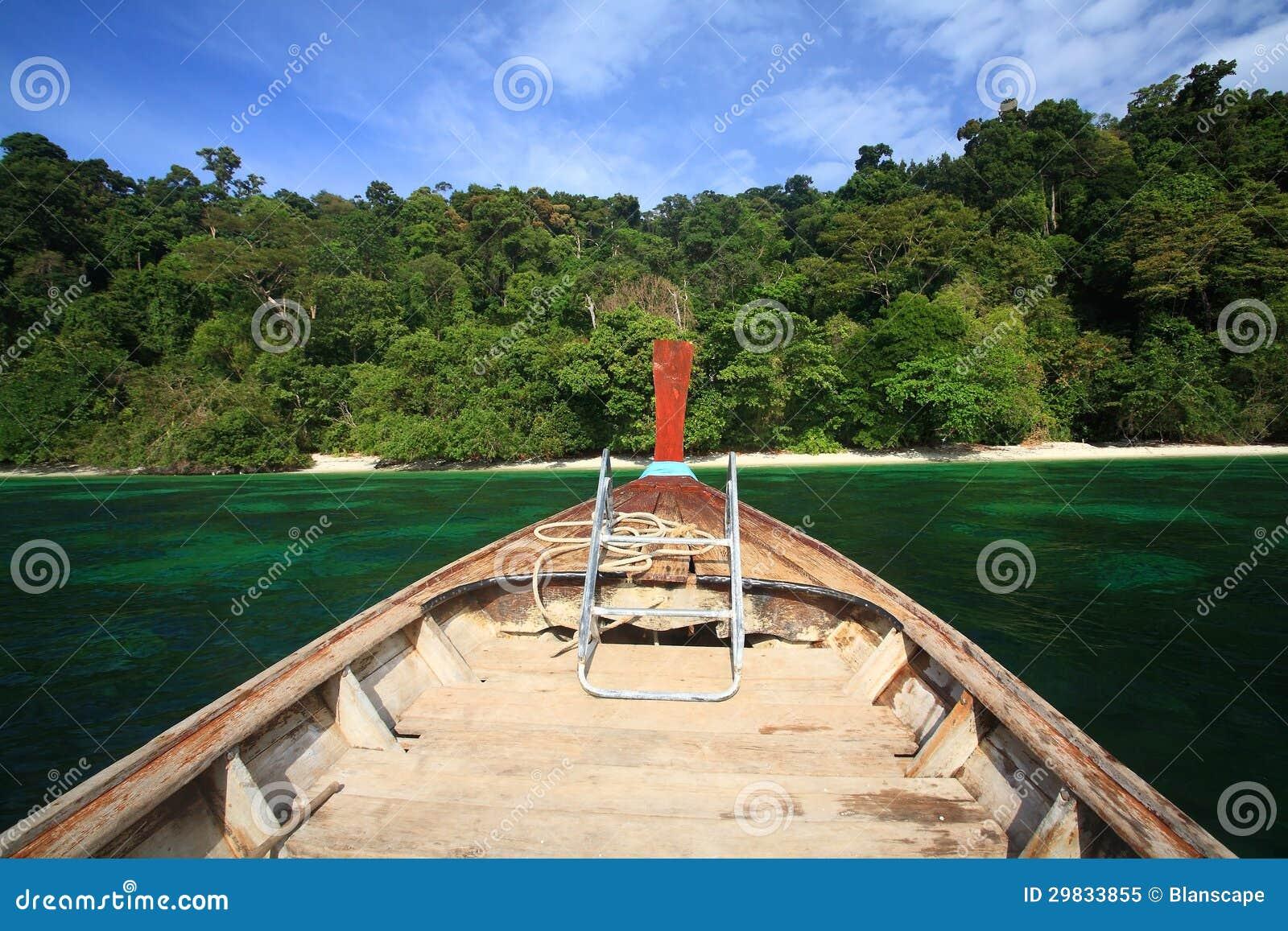 Título de madeira da cauda longa à ilha bonita