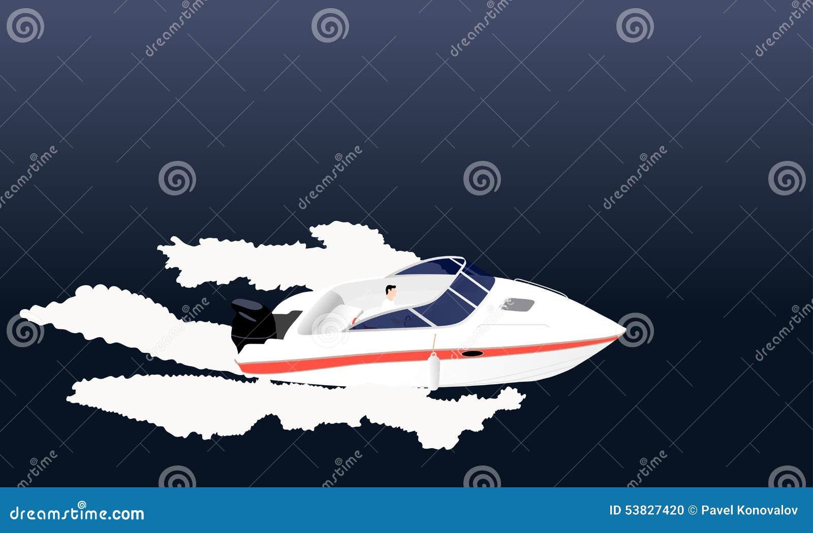 Barco de motor da velocidade
