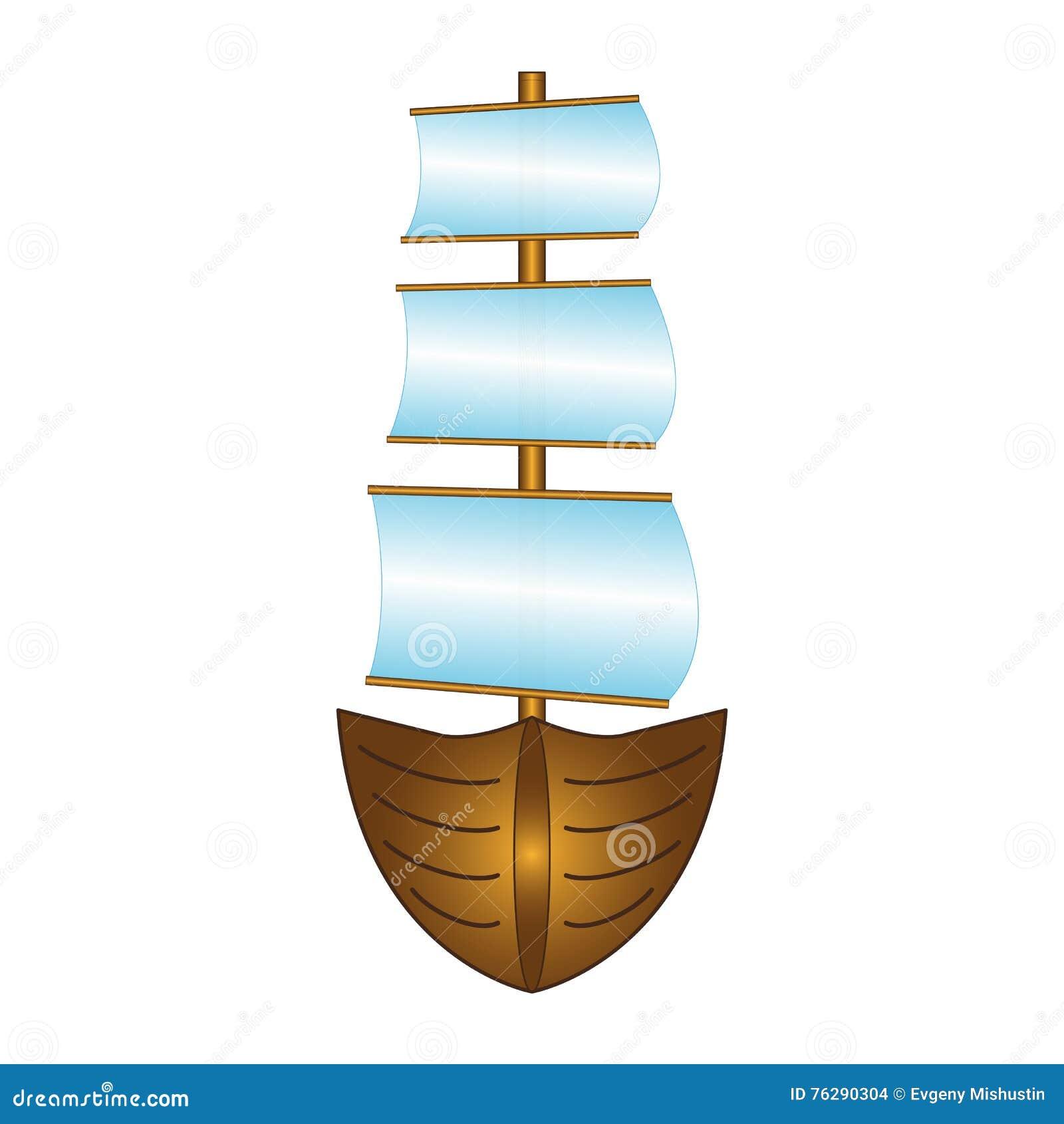 Barco de pesca con las velas