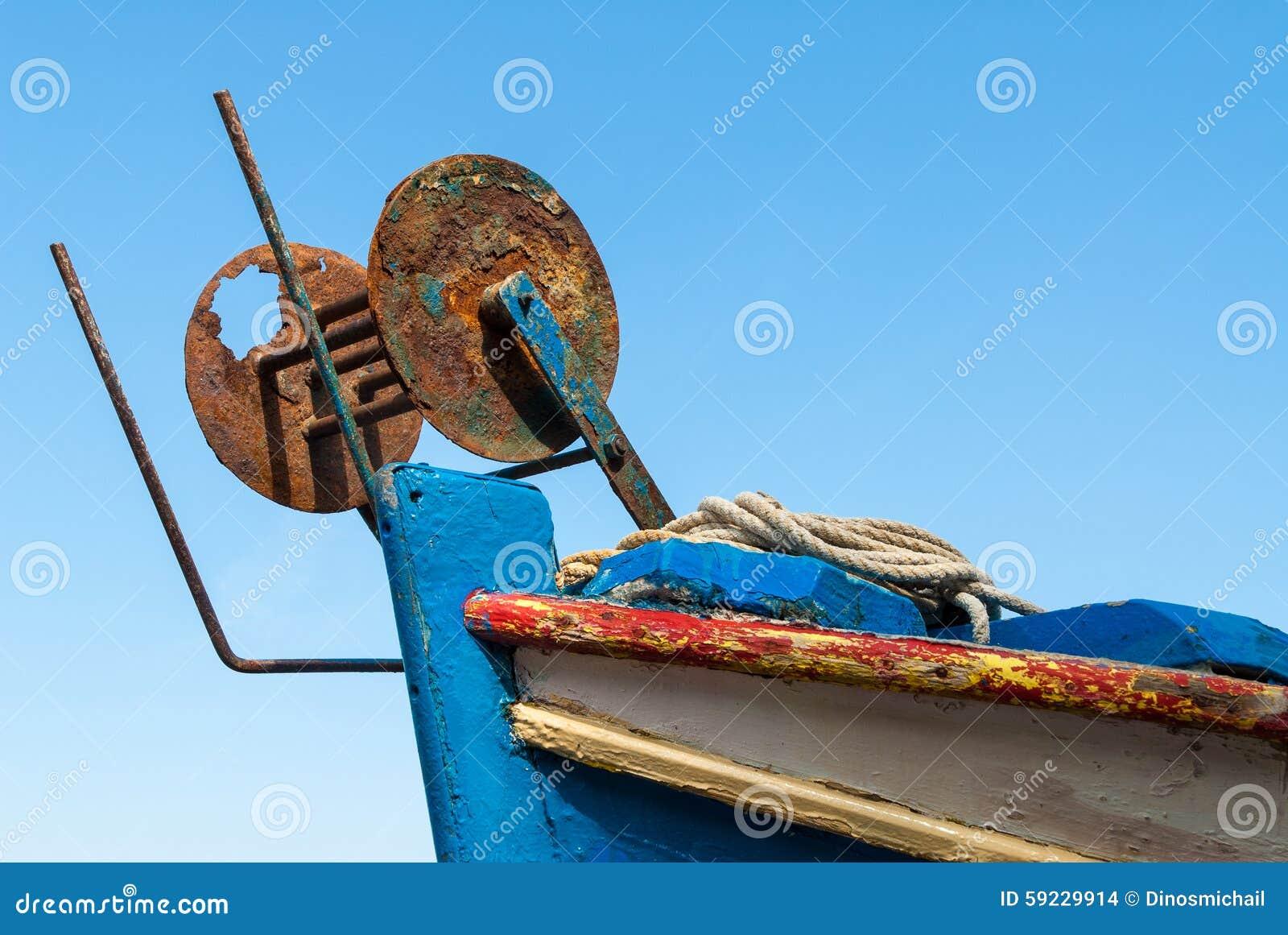 Download Barco de pesca en Grecia foto de archivo. Imagen de nautical - 59229914