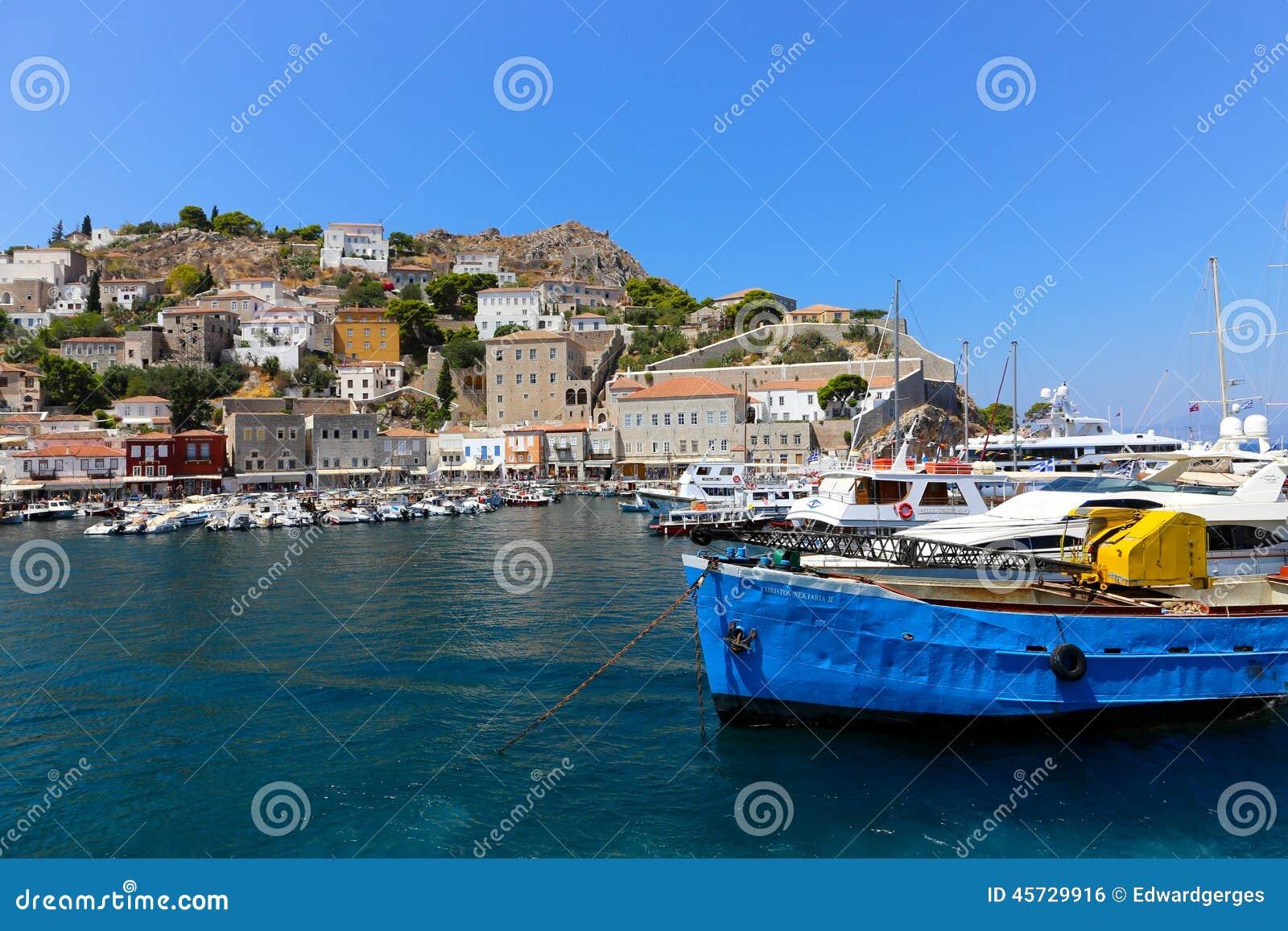 Barco de pesca griego
