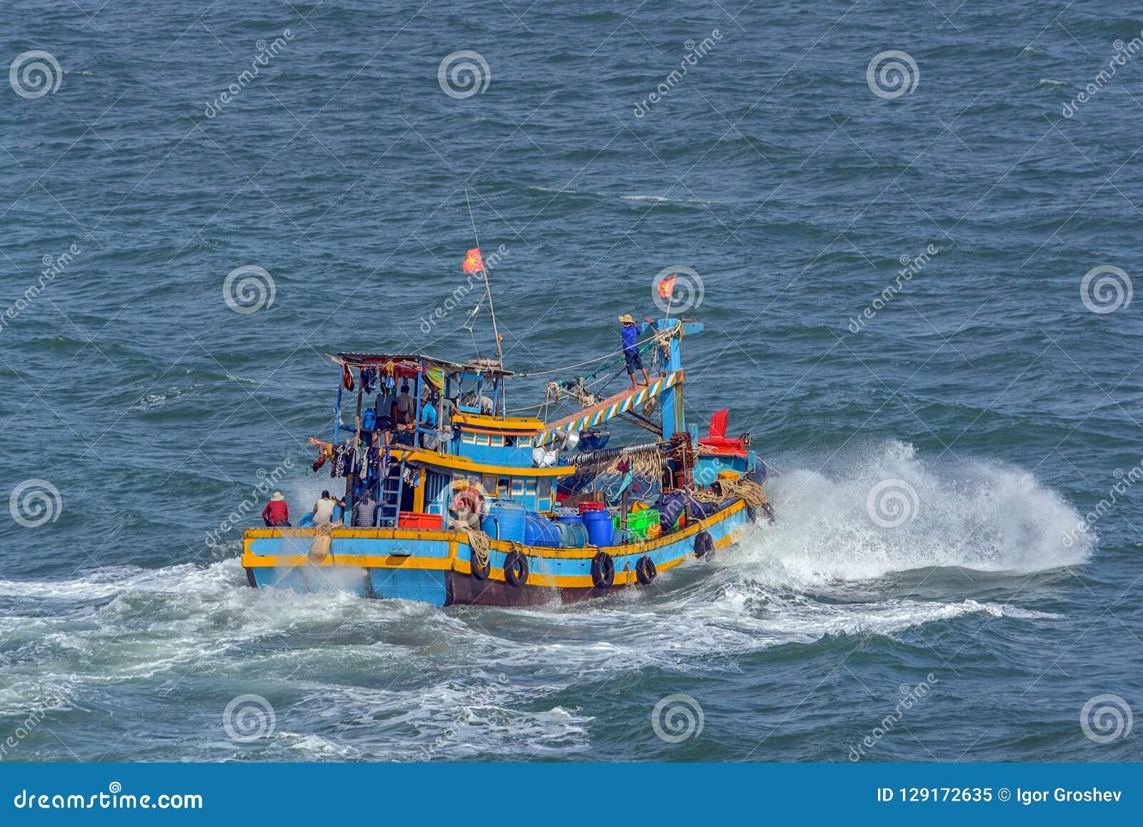 Barco de pesca vietnamita