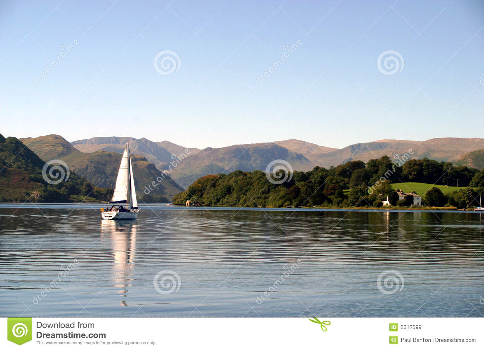 Barco de vela en Ullswater