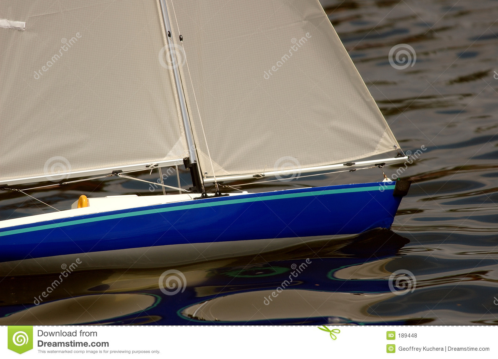 Barco de vela modelo