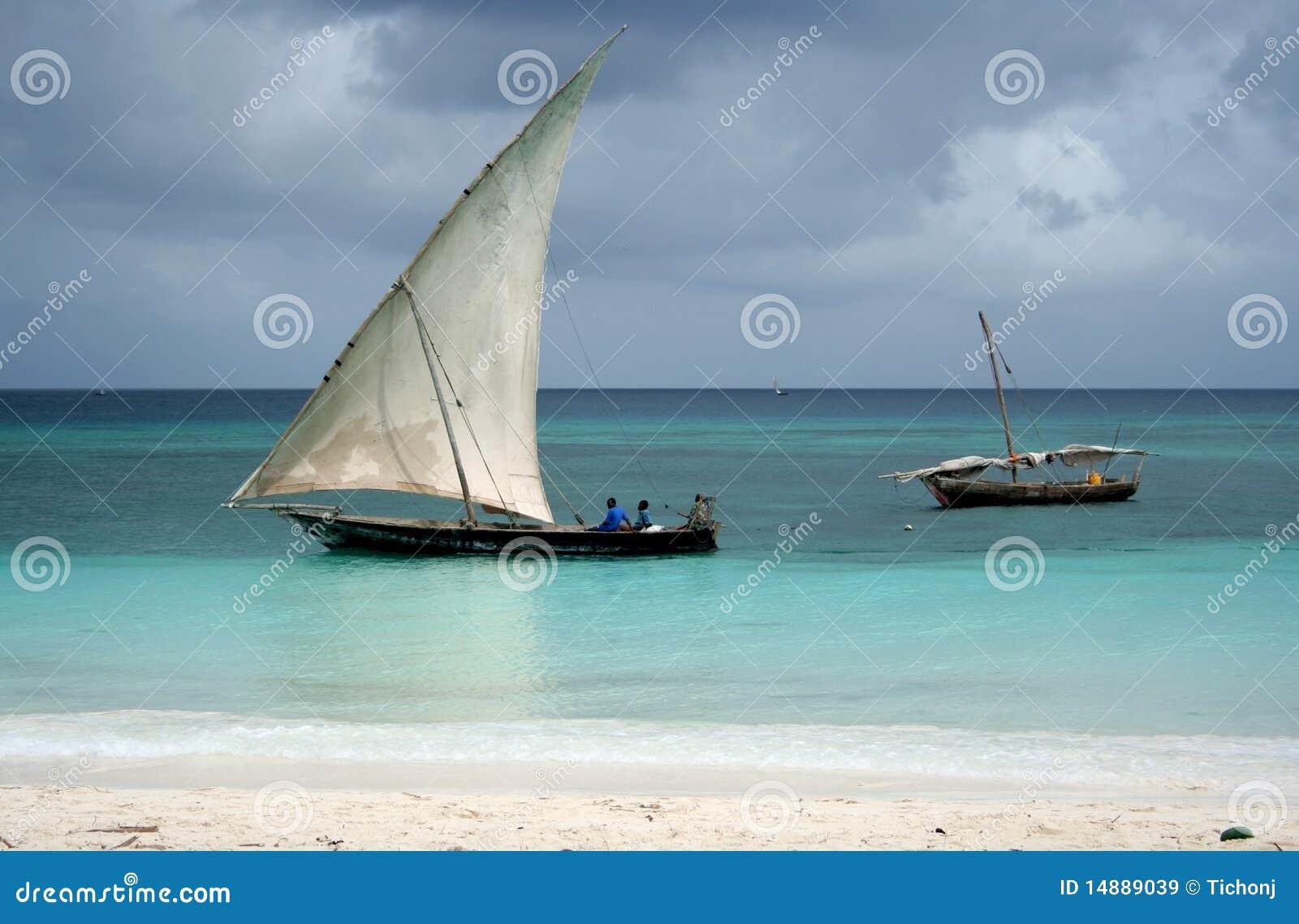 Barco do Dhow da pesca