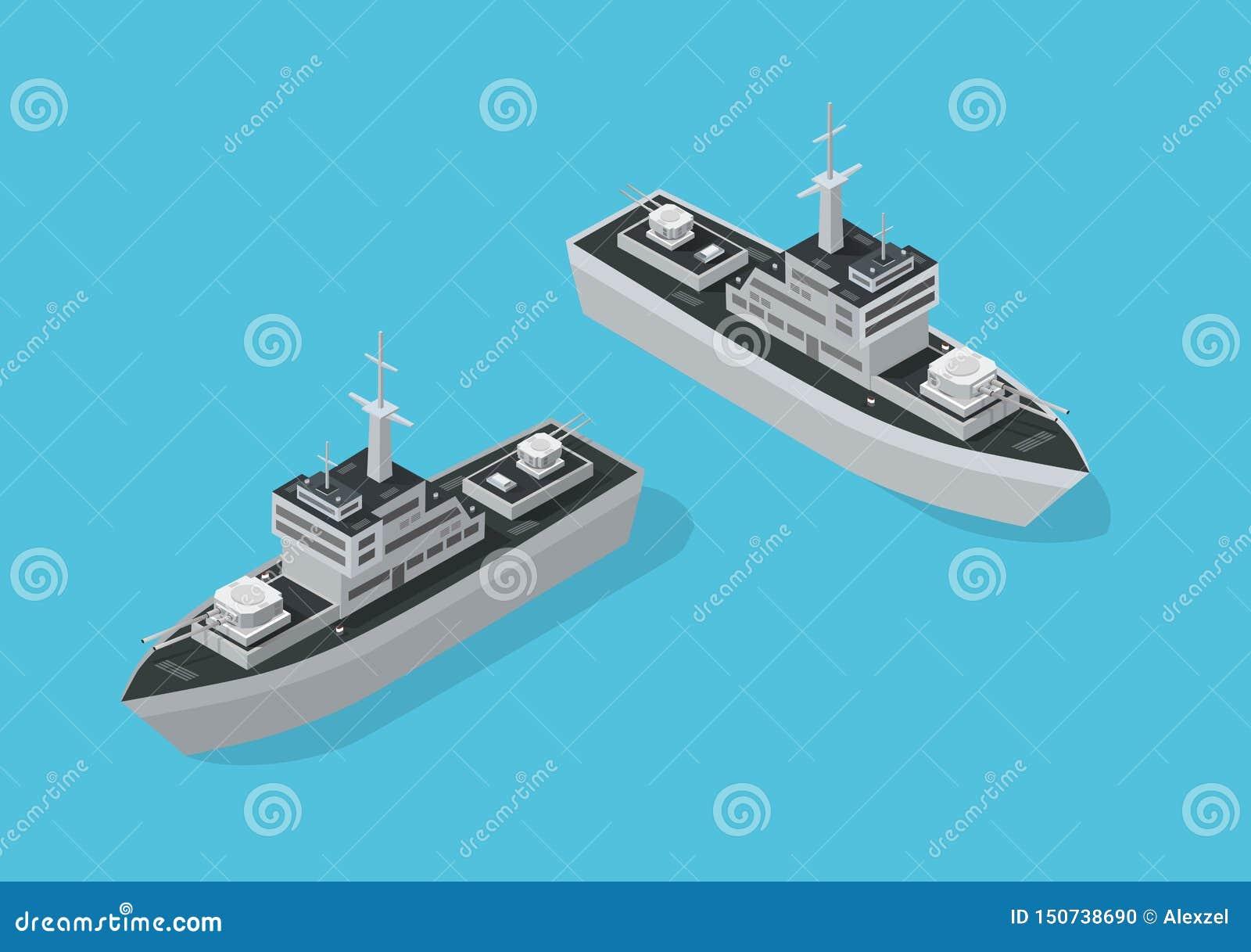 Barco militar del buque de guerra