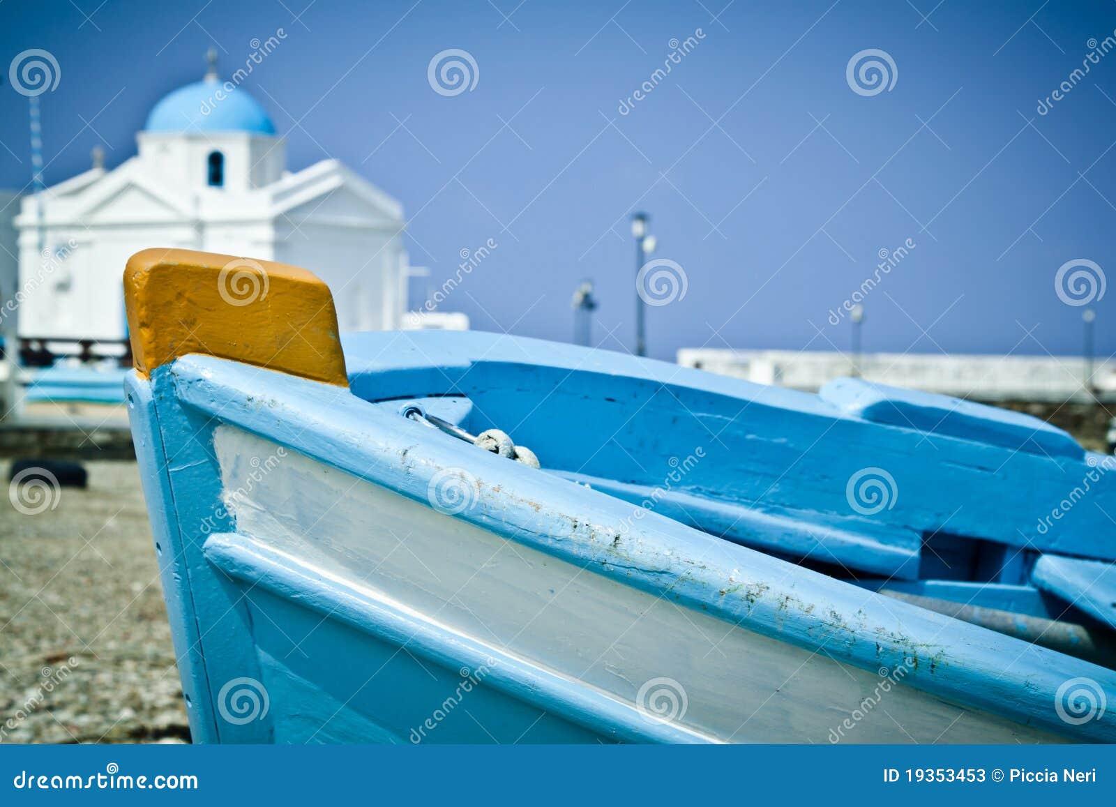 Barco na praia
