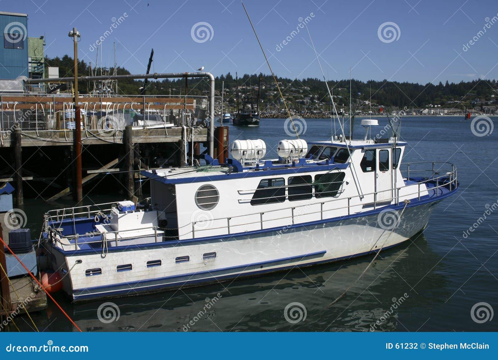 Barco no porto de Newport