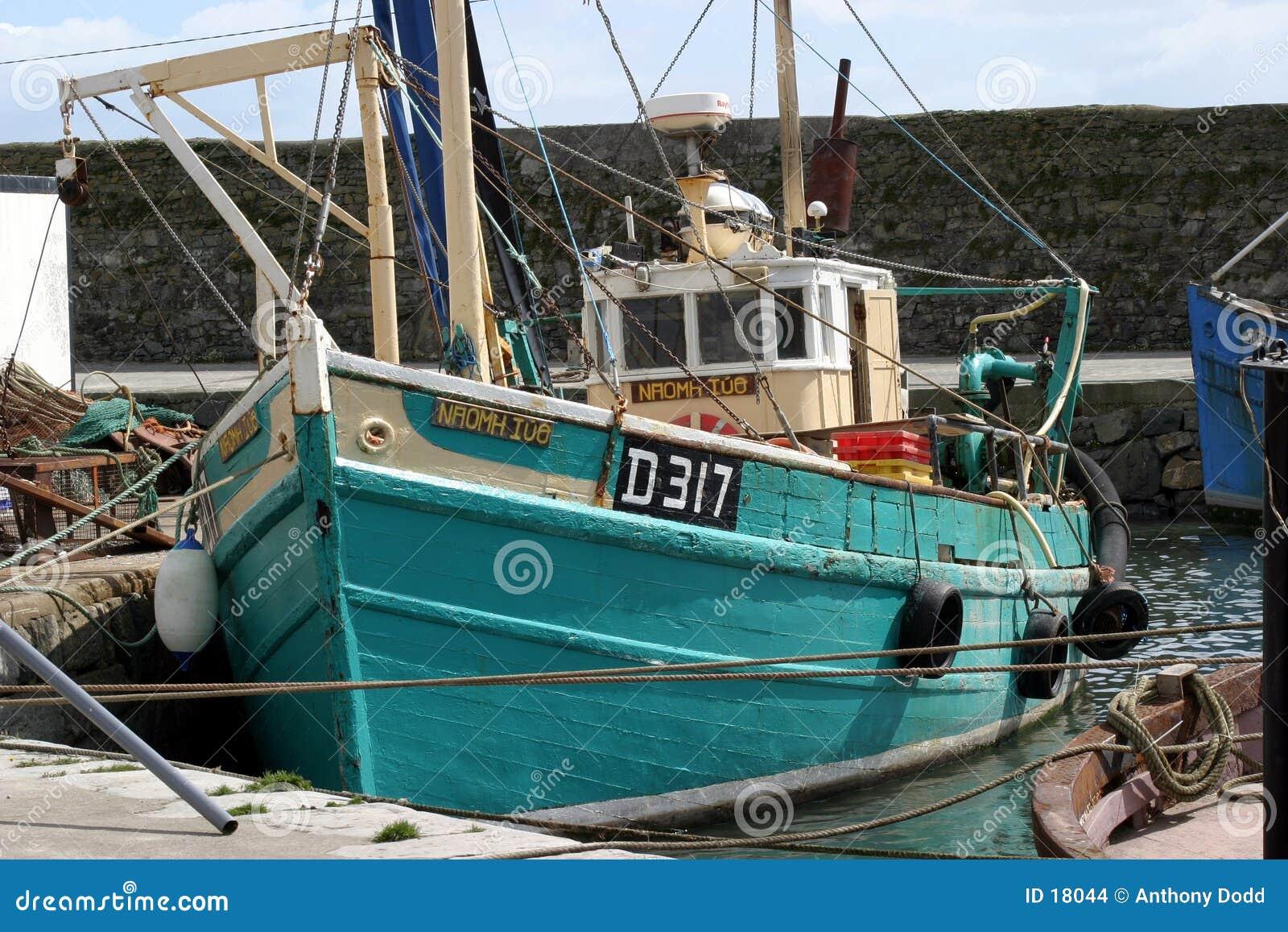 Barco rastreador de la pesca