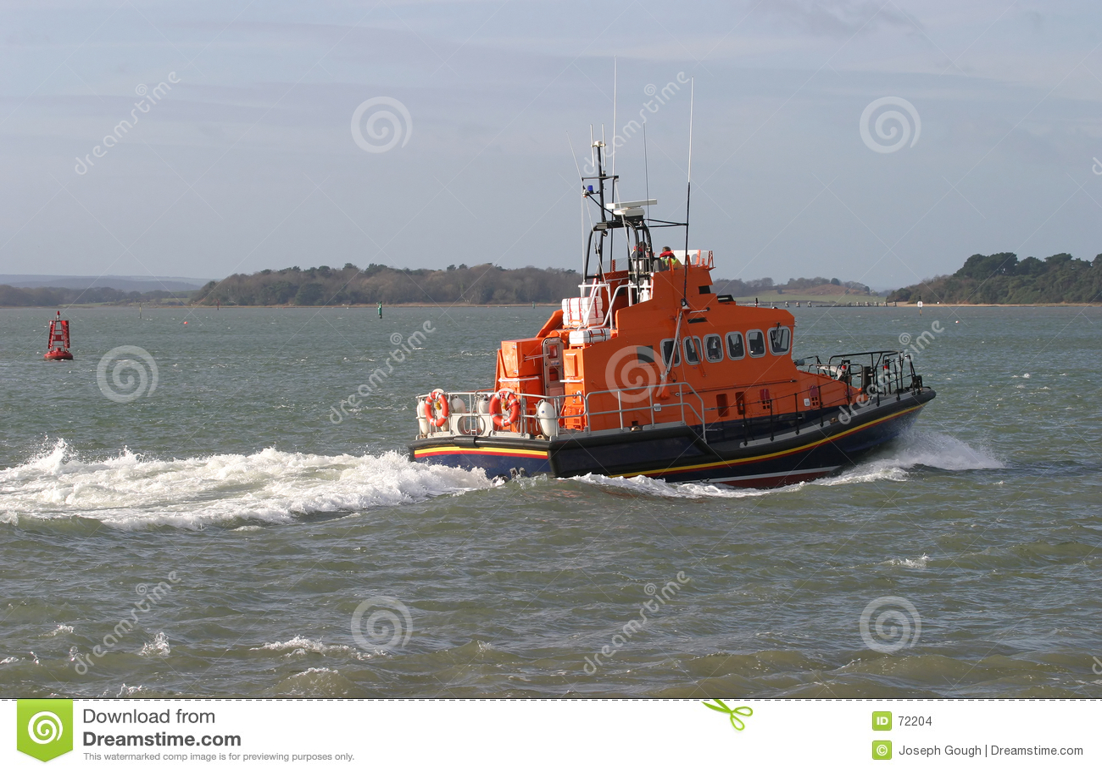 Barco salva-vidas marinho do salvamento do oceano