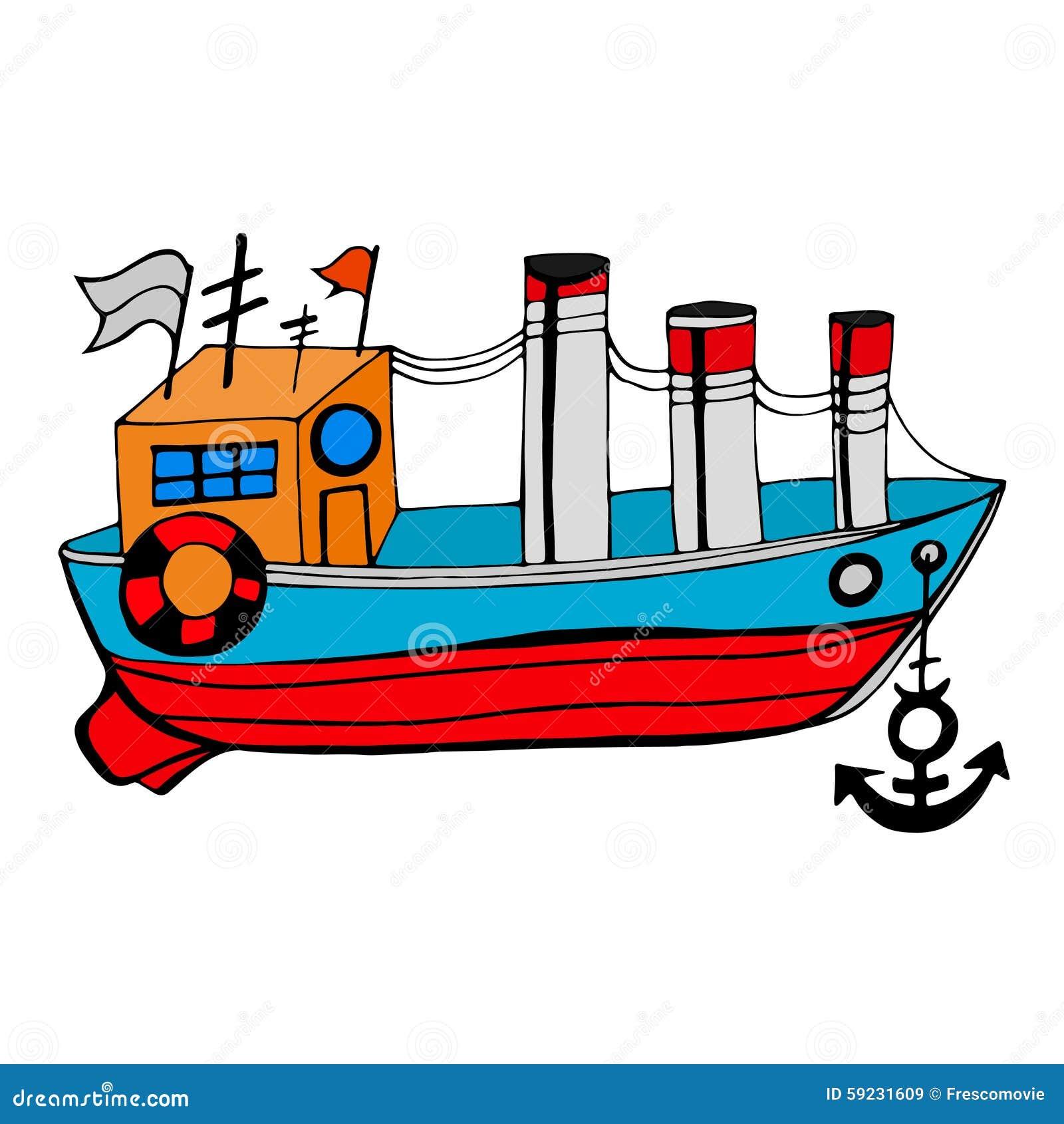Download Barco viejo ilustración del vector. Ilustración de blanco - 59231609