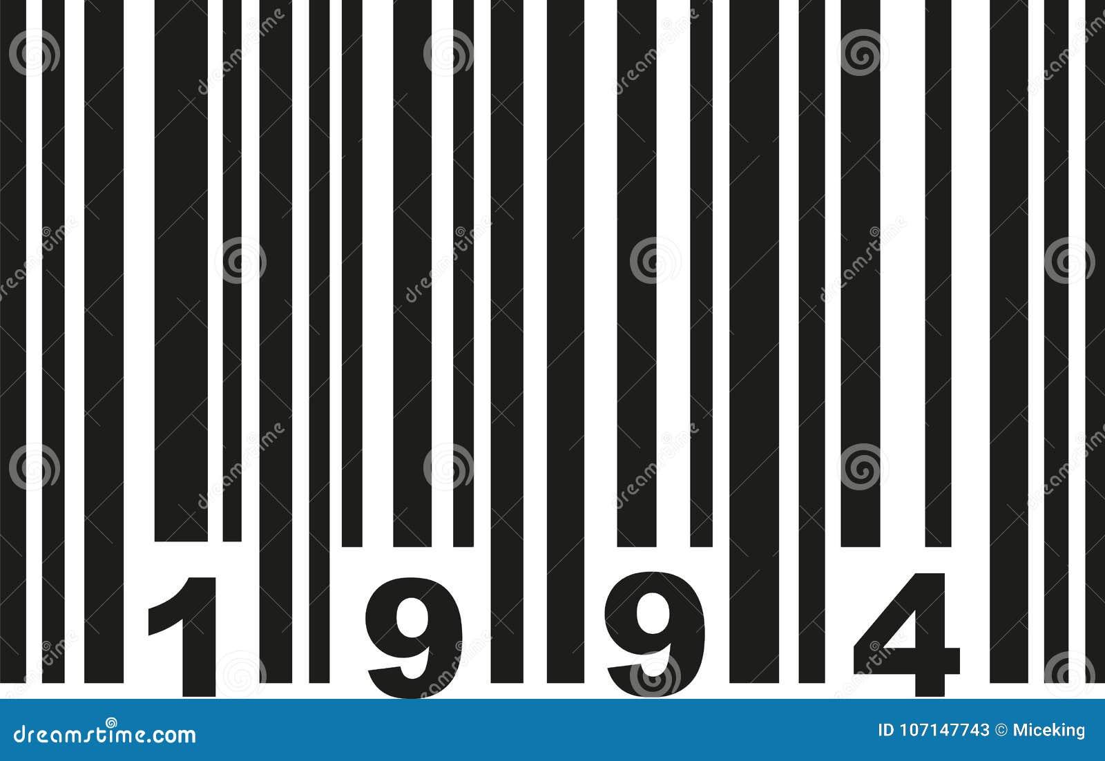 Barcode 1994 vector