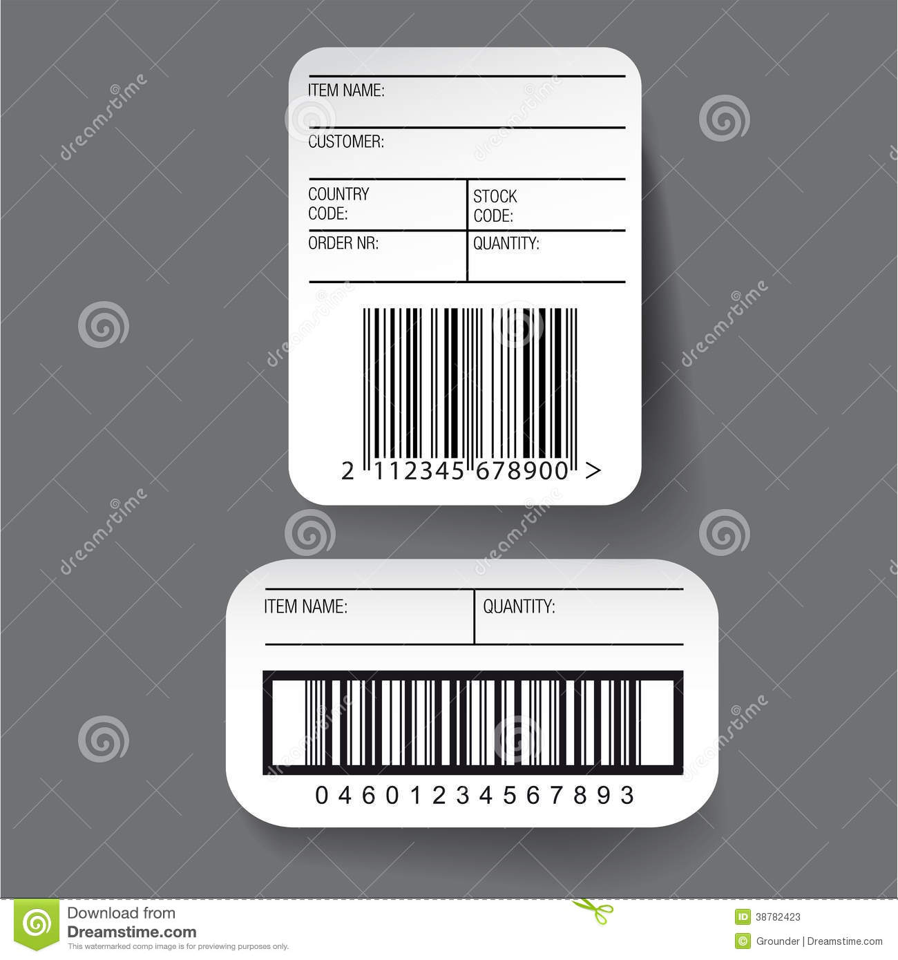 barcode label template vector stock vector illustration of merchandise package 38782423. Black Bedroom Furniture Sets. Home Design Ideas
