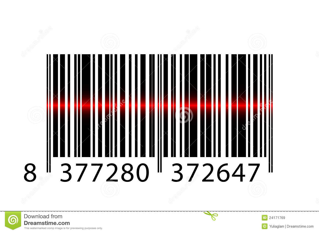 Vector Gratis Código De Barras Código Del Laser: Barcode With Laser Beam Royalty Free Stock Images