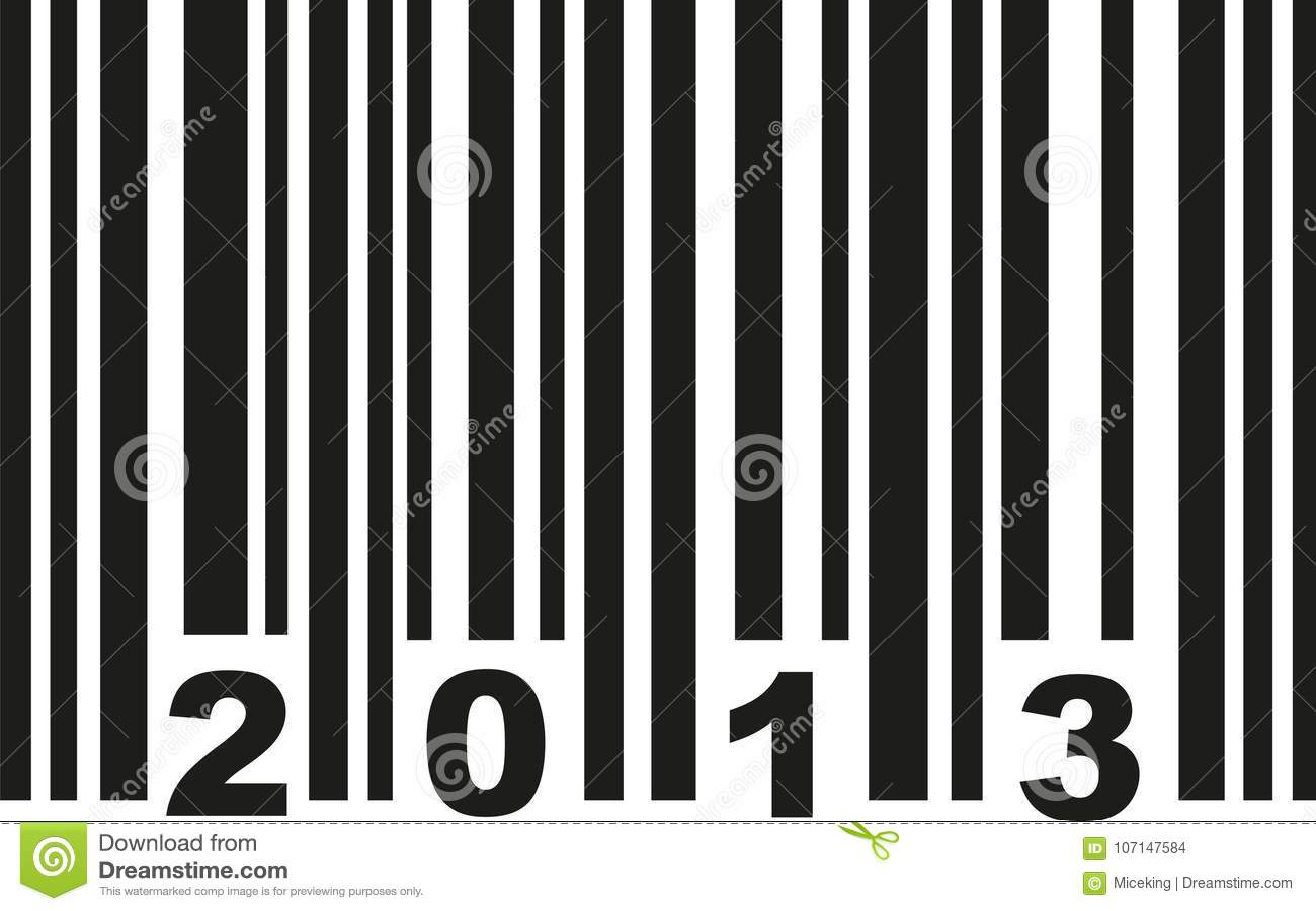 Barcode 2013 wektor